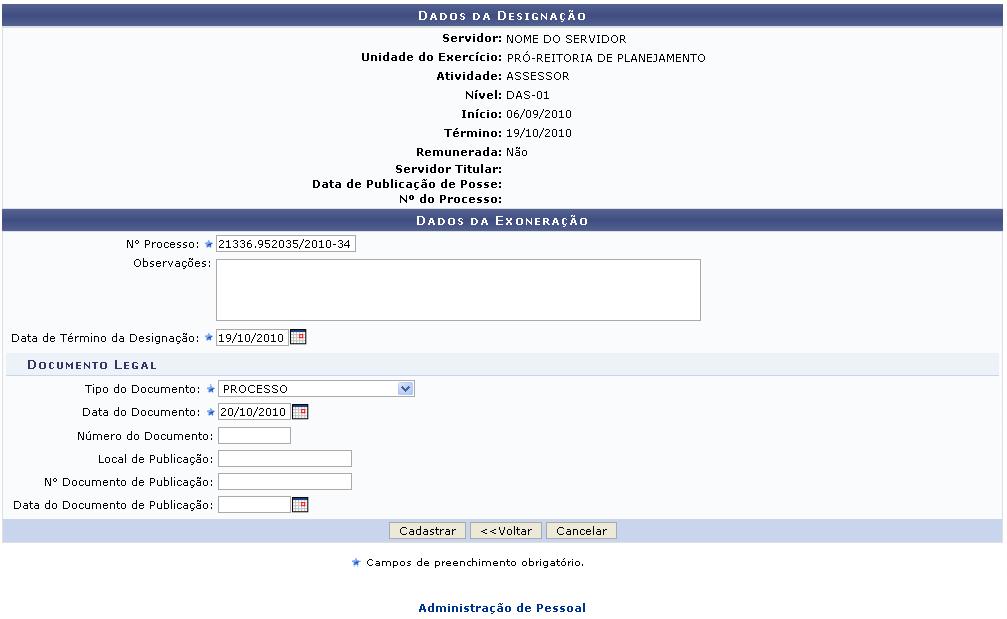 Sigrh registrar exoneracao de designacao 002.png